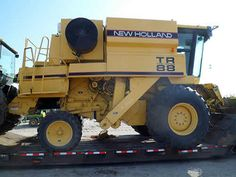 New Holland TR88 combine salvaged for used parts. This unit is available at All States Ag Parts in Bridgeport, NE. Call 877-530-5010 parts. Unit ID#: EQ-24060. The photo depicts the equipment in the condition it arrived at our salvage yard. Parts shown may or may not still be available. http://www.TractorPartsASAP.com