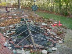 Leaf net over fish pond for winter