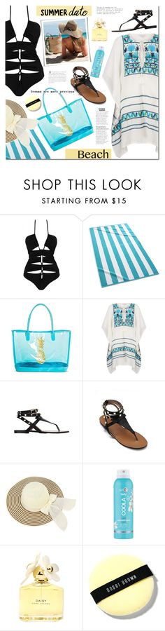 """""""Summer date: the beach"""" by mada-malureanu ❤ liked on Polyvore featuring Kassatex, Target, Star Mela, COOLA Suncare, Marc Jacobs, Bobbi Brown Cosmetics, beach and summerdate"""