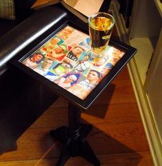 how to build a table - a Mod Podge tutorial. You can use a tray or picture frame for the top!