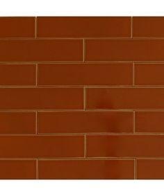 Ceramic Subway Tile Henna Brown | Modwalls Designer Tile