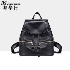 The New Korean Leather Shoulder bag Baotou Leather Simple Fashion Travel bag Women Backpack