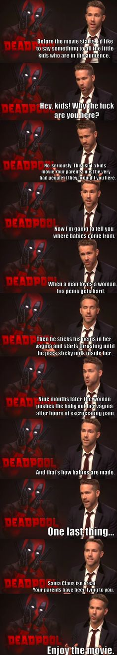 You're taking your kids to see Deadpool? Fine, you asked for it. - Imgur