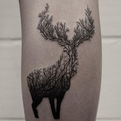 By hand and machine. Stag for Vicky, thanks for... | Best Tattoos - Pics of ink to fall in love with