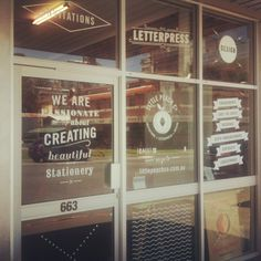 Little Peach Co Shopfront. We used only white vinyl which ended up really popping!