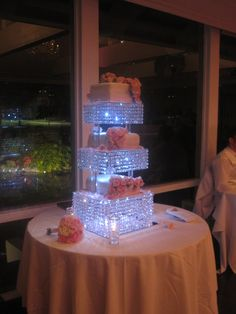 Reception, Flowers & Decor, Decor, Cakes, cake, Centerpieces, Centerpiece, Crystal, Stand, Decoration, Crystals, Chandeliers