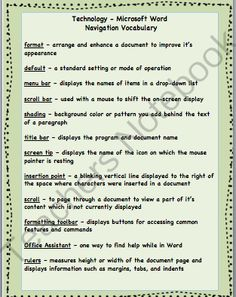 Finding Simple Percentages Worksheet Word Capital Letters In Cursive Worksheet  Classroom  Language Arts  Navidad Worksheets with After School Worksheets Excel Microsoft Wordtechnology Vocabulary And Quizzes From Mrs Bs Room On  Teachersnotebookcom  3rd Grade Proofreading Worksheets Word
