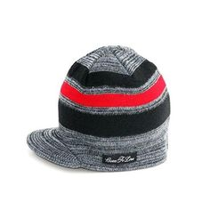 d192d15643d34 Born To Love Boy s Stripe Beanie-Gray-L  Light weight gray