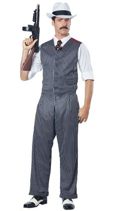 420d7992ebf70 Men's Mobster Costume Mafia Costume, California Costumes, Full Body Costumes,  Adult Costumes,