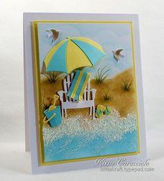 Beach Chair scenic card by Kittie Caracciolo