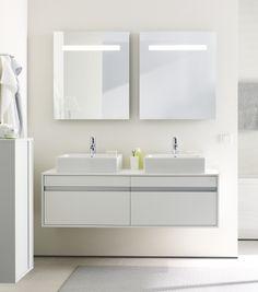 Duravit - Bathroom series: Katho - bathroom furniture from Duravit. Duravit, Bad Inspiration, Bathroom Inspiration, Bathroom Ideas, Family Bathroom, Master Bathroom, Bathroom Vanities, Grey Bathrooms, Modern Bathroom