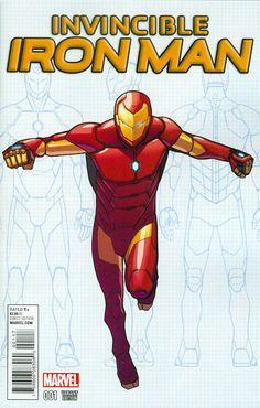 Invincible Iron Man Vol 2 #1 David Marquez Young Guns Variant Cover