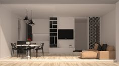 My newest work for now :) really light and bright interior. 3D visualization.