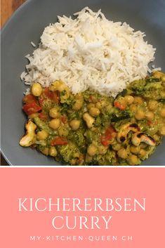 Leckeres Kichererbsen Curry mit viel Gemüse. Probiere jetzt dieses köstliche Curry Rezept aus!