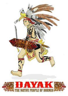 Dayak : The Native People of Borneo by van-nugraha on DeviantArt - anni Filipino Tribal Tattoos, Samoan Tribal, Family First Tattoo, Hawaiian Tribal, Hawaiian Tattoo, Lace Tattoo Design, Aztec Wallpaper, Cross Tattoo For Men, Indonesian Art