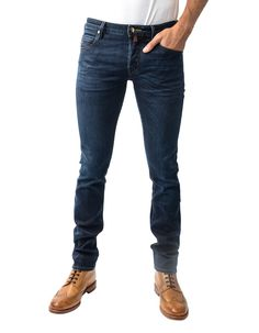 Jacob Cohen Comfort Skinny Hide Patch Jeans Dark Wash | Accent Clothing
