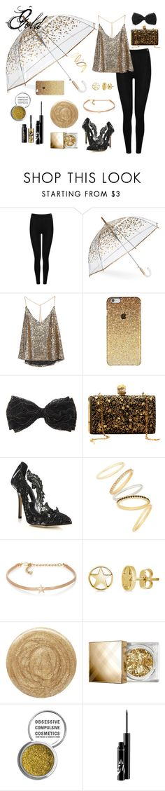 """Gold"" by forestwing on Polyvore featuring Heat Holders, ShedRain, Oscar de la Renta, Madewell, Kenneth Jay Lane, BERRICLE, Burberry, Obsessive Compulsive Cosmetics and tarte"