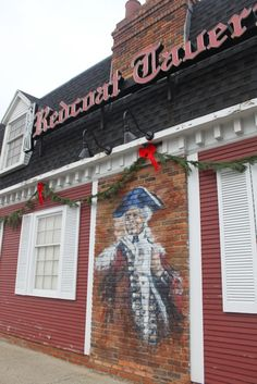 Red Coat Tavern: Royal Oak, Michigan. Reminds me of George's Aunt Sue & Uncle Frank. We would meet them there for cheeseburgers.