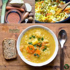 Kuchařka ze Svatojánu: ZELENINOVÁ POLÉVKA S ČERVENOU ČOČKOU Soup Recipes, Curry, Vegan, Cooking, Fit, Ethnic Recipes, Soups, Blog, Kitchen