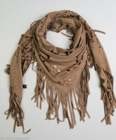 Suede triangle scarf with tassels Spring Collection 2016 by Definite Glam <3