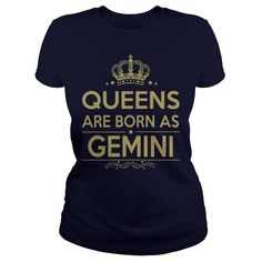 Awesome Tee HAPPY BIRTHDAY  QUEENS ARE BORN AS GEMINI Shirts & Tees