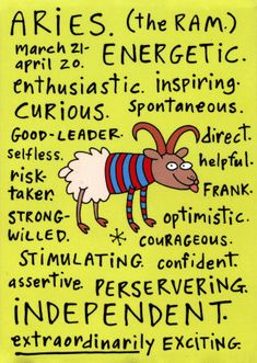 Aries, what does 2013 hold in store for you? Find out about Love, Career, Health and more. ARIES - Mar 21 - Apr 19 Symbol: The Ram E. Birthday Horoscope, Aries Birthday, Birthday Wishes, Happy Birthday, Aries Horoscope, Aries Zodiac, Spiritual Horoscope, Capricorn, Aquarius