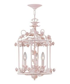 Take a look at this Blush Paris Flea Birdcage Mini Chandelier by Crystorama on #zulily today! found this on zulily, want it so bad