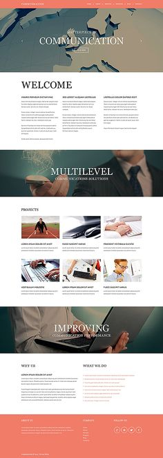 Template 50796 - Communications Company  Responsive Joomla Template