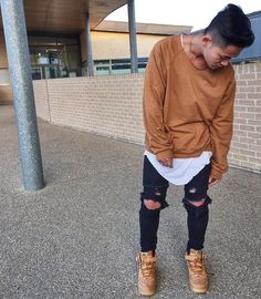 """Brown fit.. #champaris75 #champaris"" that amazing jeans and that brown…"