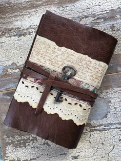 The Post: Leather journal, handmade