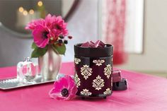 Etched damask patterns glows seductively in the elegant glazed ceramic electric ScentGlow Warmer while releasing the fragrance of any of PartyLite's fabulous Scent Plus® Melts. Mix 2 Forbidden Fruits Melts together to create a Forbidden Fruit fusion! Why not try these: Blackberry Boudoir + Fig Fatale = Love Potion - or - Blackberry Boudoir + Tangerine Tease = Boudoir Tease!