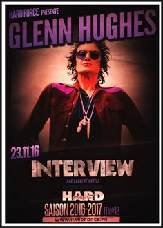 [INTERVIEW] ...from #FRANCE @glennhughes talkin' #RESONATE & much more... 11/2016.