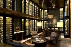 The Wine and Cigar Library at The Chedi Andermatt