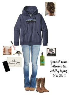 """Doing School. I'm so tired!"" by kansascountrygirl ❤ liked on Polyvore featuring Burt's Bees, Sephora Collection, tarte, C.O. Bigelow, Milani, Wet Seal, Realtree, Patagonia, Samsung and MINX"