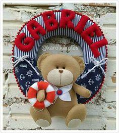 Guirlanda urso marinheiro feltro