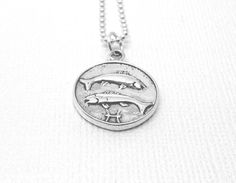 Pisces Necklace Sterling Silver by GirlBurkeStudios on Etsy, $35.00
