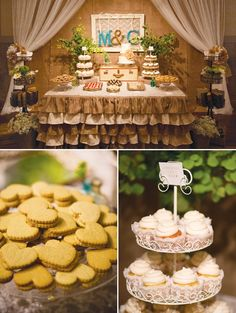 vintage-wedding-desserts. love the trunk on the table!!