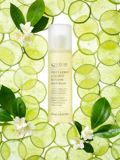 beauty and fragrance, Sanctuary Spa Covent Garden, Green Lemon and Orange Blossom body wash campaign, beauty, beauty product photography, beauty still life, beauty product photographer, still-life photographer, still-life photographer London, David Parfitt, advertising photographer
