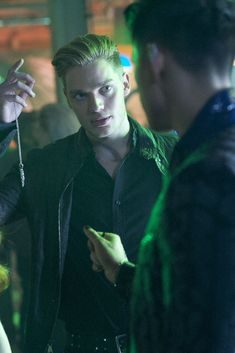 Harry Shum Jr. and Dominic Sherwood in Shadowhunters: The Mortal Instruments (2016)