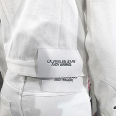 Calvin Klein Jeans x Andy Warhol Andy Warhol, Capsule Wardrobe, Leather Label, Raf Simons, Clothing Labels, Minimal Fashion, Minimal Chic, Minimal Design, Label Design