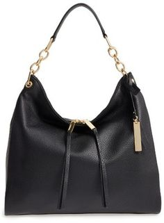 Shop Now - >  https://api.shopstyle.com/action/apiVisitRetailer?id=610737785&pid=2254&pid=uid6996-25233114-59 Vince Camuto Avin Leather Hobo - Black  ...