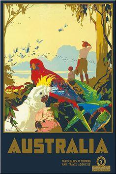 MAGNET Travel Poster Photo Magnet CANADA Qantas Mountie