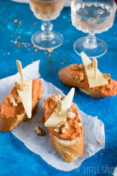3 x Spaanse pinchos voor bij de borrel - Little Spoon Bruchetta, Bbq, Small Meals, Finger Foods, Snacks, Toast, Food And Drink, Dining, Cooking
