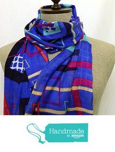 Scarf colorful striped - SC018 from Nazo Design https://www.amazon.com/dp/B01FMCYU6K/ref=hnd_sw_r_pi_dp_RpL5xbWQZ72A9 #handmadeatamazon #nazodesign