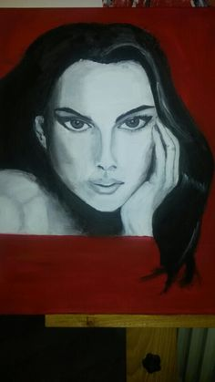 Acryl Lady in Red