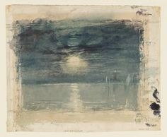 Joseph Mallord William Turner, 'Shields Lighthouse' circa (J. Turner: Sketchbooks, Drawings and Watercolours) Watercolor Landscape, Watercolor And Ink, Landscape Paintings, Watercolour Paintings, Watercolours, Joseph Mallord William Turner, Covent Garden, Turner Watercolors, Turner Painting