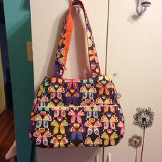 "Butterflies ""Ethel"" purse. Pattern by Swoon Sewing Patterns. Handmade. Simply Memorable. 2015"
