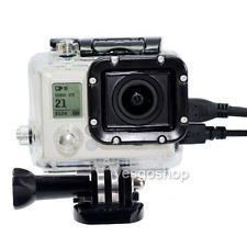 Waterproof case gopro 3 housing with side opening with lens for Go pro hero 3