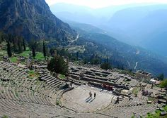 Delphi, Greece  I just loved Delphi. It was one of my favorite places I visited in Greece. I want to go back!