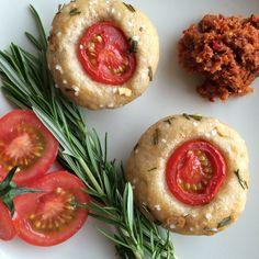 Focaccia Muffins hausgemacht herzhaft